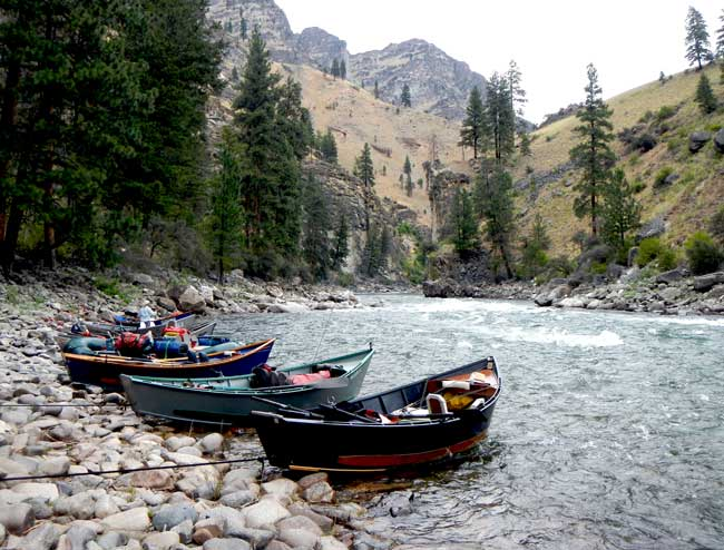 Driftboat fly fishing in Idaho on the Middle Fork Salmon River